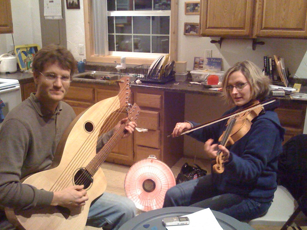 Dave and Nicole, Harp Guitar and Fiddle