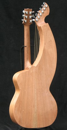 Tonedevil S-12HG Harp Guitar Back Photo
