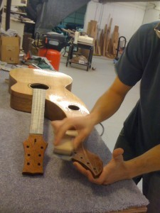 Harp Guitar Finishing
