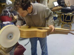 Buffing the Harp Guitar