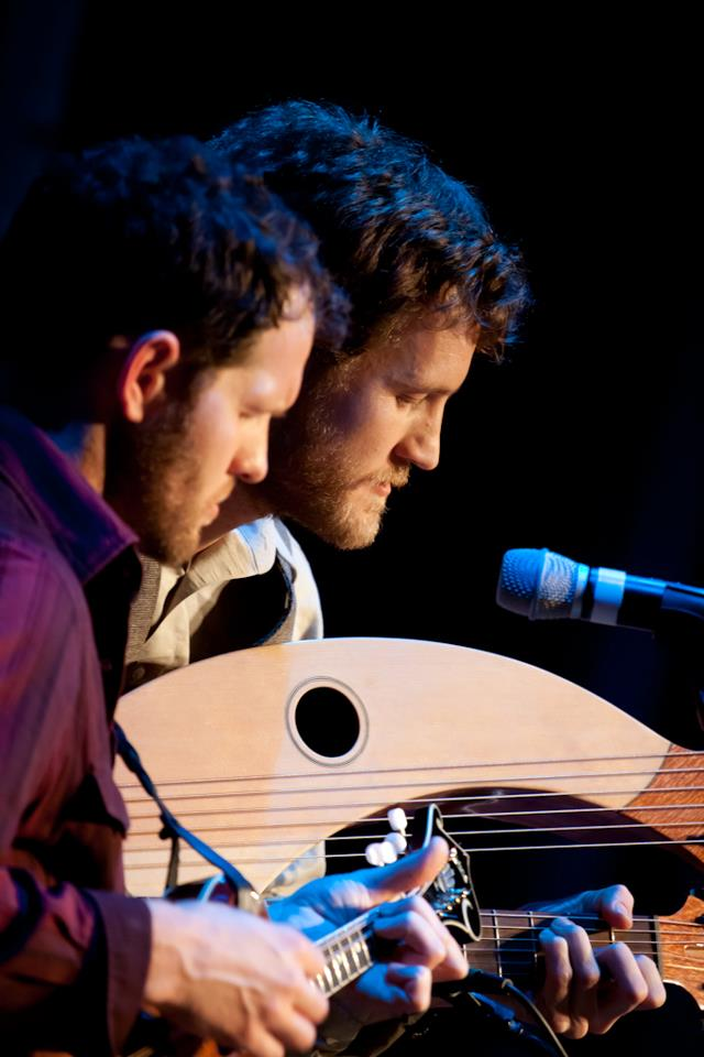 Powell Bros playing at harp guitar gathering 10, Dallas, TX