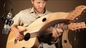 Walnut vs. Mahogany Harp Guitar Thumbnail