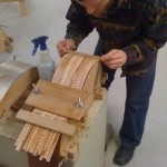 Gluing in the necks and kerfing. Tonedevil Harp Guitars Official Website image 1