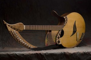 Taproot harp guitar, by Fred Carlson