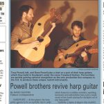 The Powell Bros, on the Front Page News... Tonedevil Harp Guitars Official Website