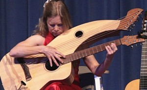 """""""view from space"""" by muriel Anderson on Tonedevil harp guitar"""