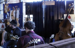 Tonedevil Guitars booth at Wintergrass 2013