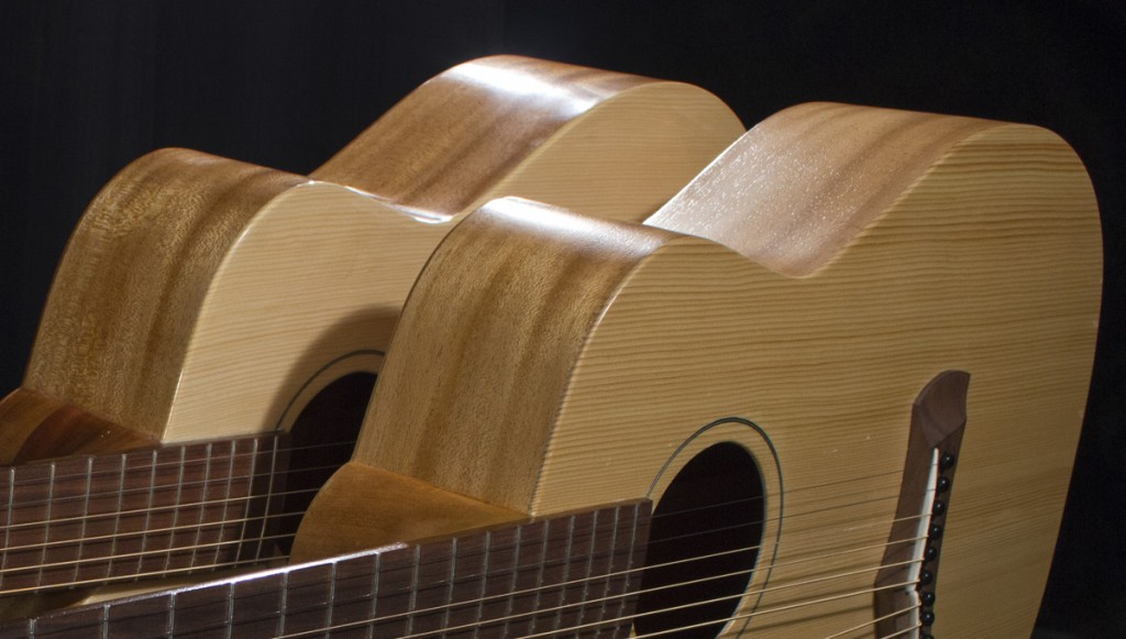High gloss and Satin finish for harp guitars
