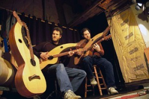 "Powell Bros playing harp guitar and featured in ""The Hollow Arm"" film documentary"