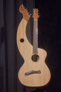 S-12 Deluxe Redcedar and Figured Mahogany Tonedevil Harp Guitars Official Website image 5