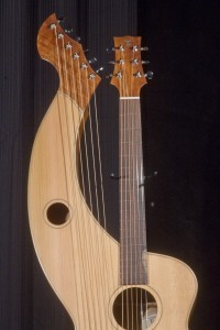S-12 Deluxe Redcedar and Figured Mahogany Tonedevil Harp Guitars Official Website image 2