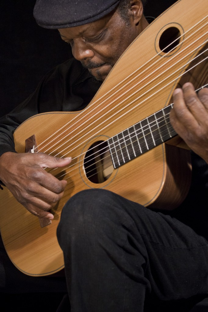 Leon Atkinson with Classical Harp Guitar