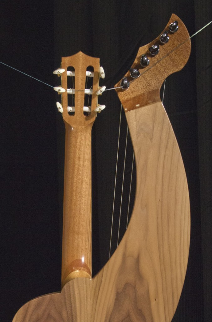 "S-12N Leon Atkinson Model ""Classical Harp Guitar"" Tonedevil Harp Guitars Official Website image 12"