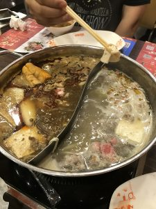 Hot pot meal in China