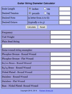 StringGauge Calculator