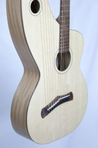 12-string neck harp guitar