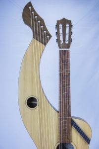 Microtonal Harp Guitar with super trebles